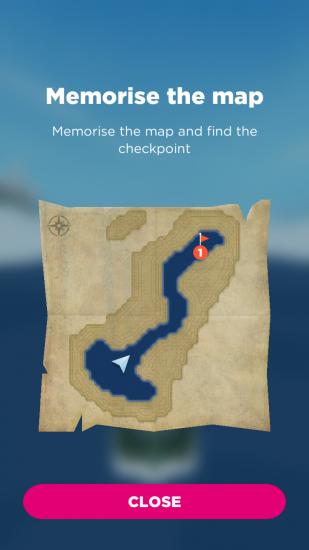 Opdracht in Sea Hero Quest.