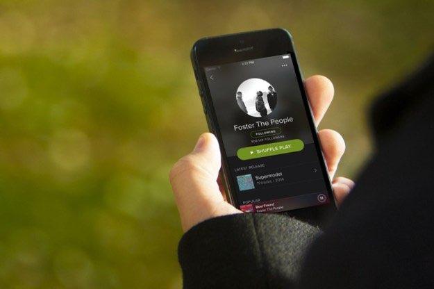 Spotify op de iPhone