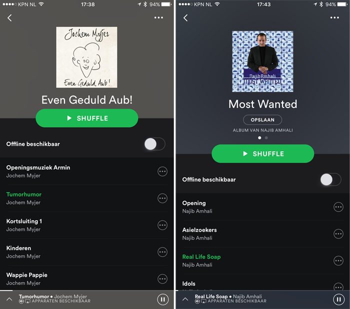 Spotify comedy luisteren