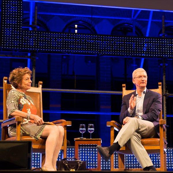 Tim Cook en Neelie Kroes