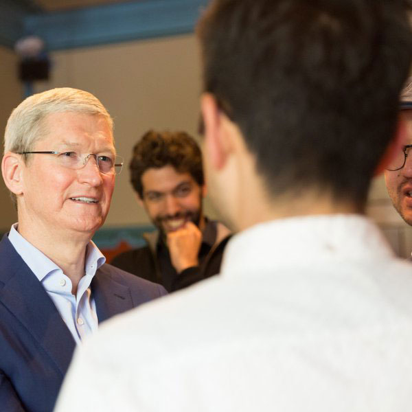 Tim Cook in Amsterdam