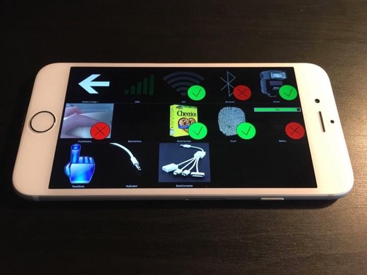 Prototype van de iPhone 6 met functies.