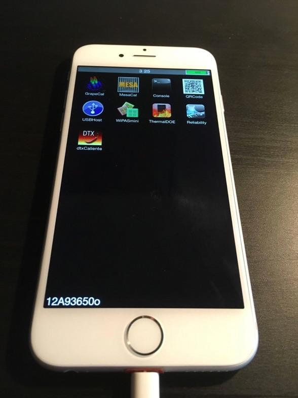 Prototype van de iPhone 6 met apps.