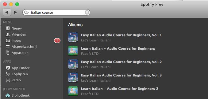 Spotify taalcursus volgen