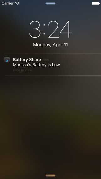 Battery Share notificatie