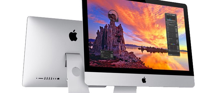iMac met InDesign