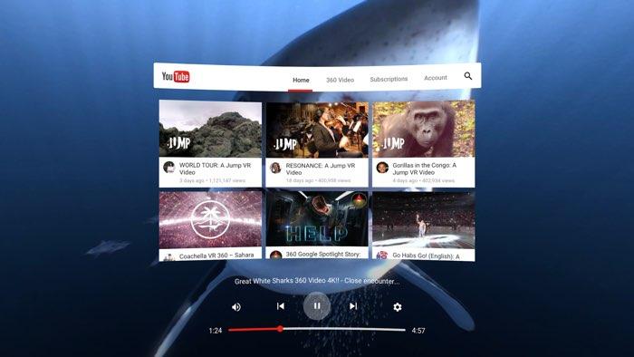 YouTube VR-app