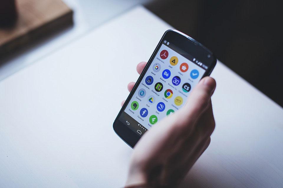 Android-smartphone met apps