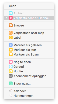 Opties aanpassen in Airmail 3.