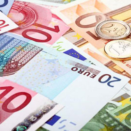 Euro's contant geld