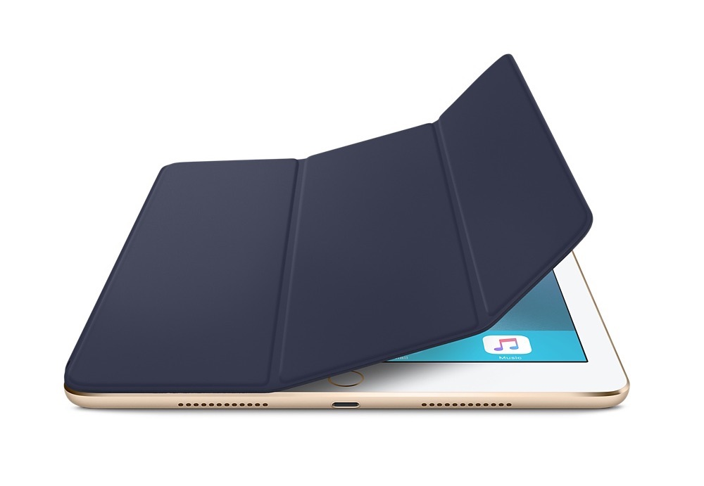 Smart Cover in Middernachtblauw voor iPad Pro.
