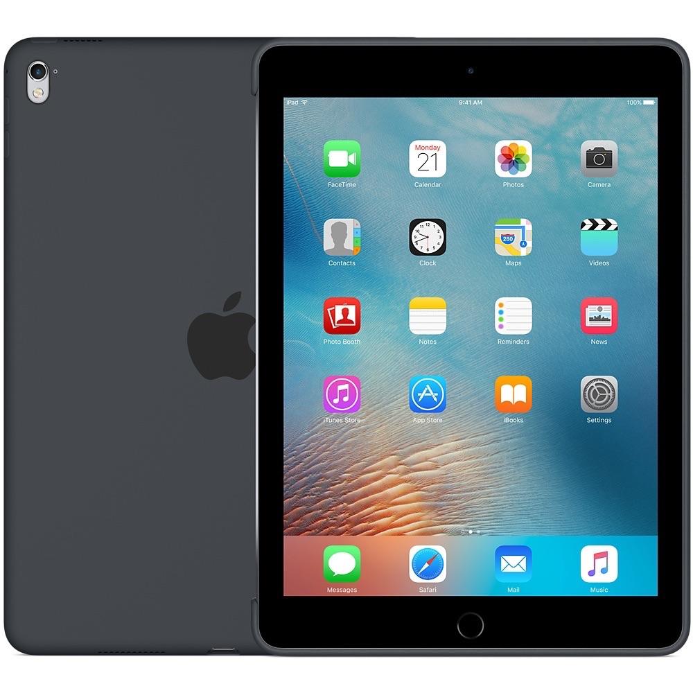 Zwarte siliconenhoes voor iPad Pro.