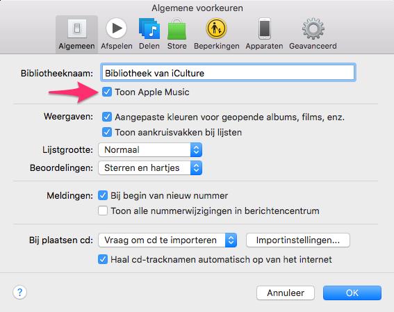 Apple Music verwijderen uit iTunes