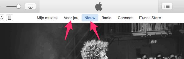 Apple Music: Voor Jou en Nieuw