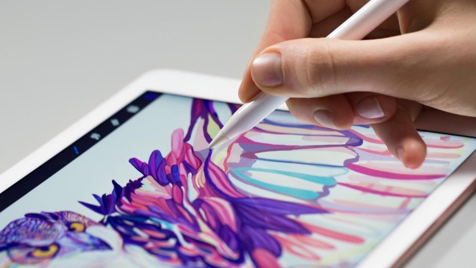 Apple Pencil met een tekening op een iPad.