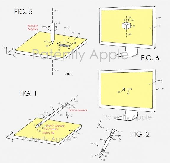 Voorwerpen draaien op een Mac met een Apple Pencil.