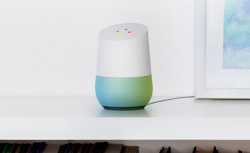 Google Home in teal