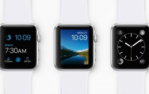 Verschillende wijzerplaten op een Apple Watch.