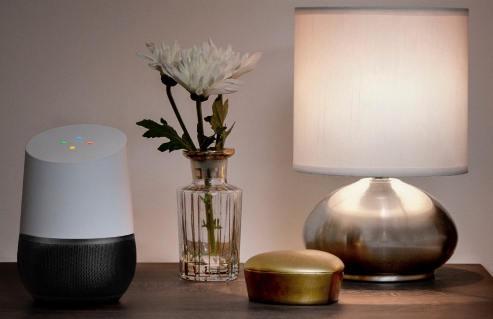 Google Home in de huiskamer