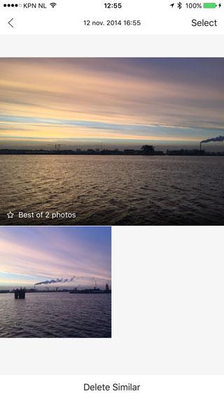 The Roll: soortgelijke foto's van een zonsondergang sorteren