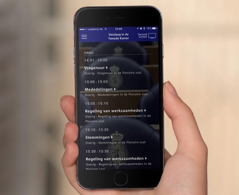 Debat Direct op de iPhone.