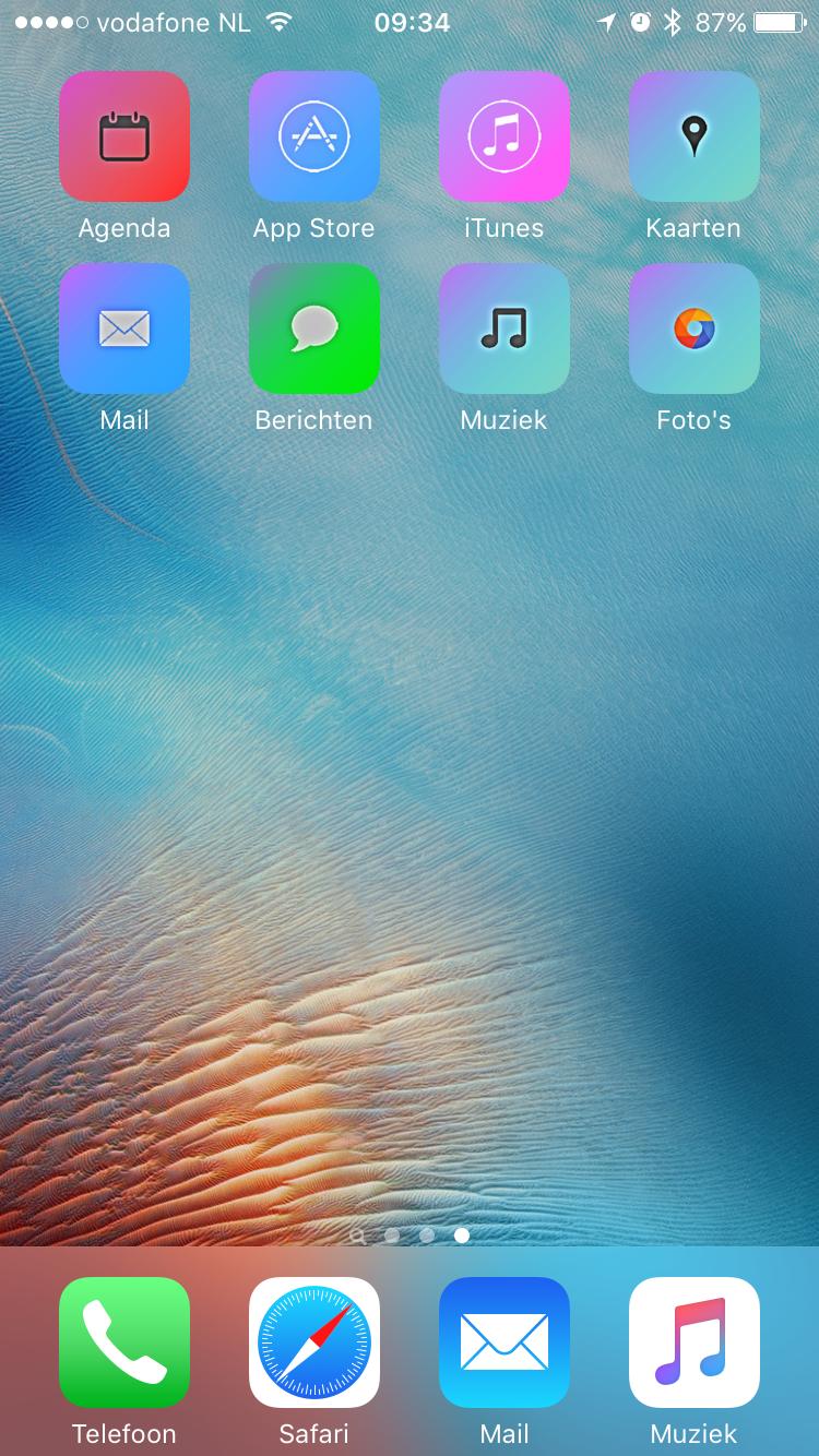 Aangepaste icoontjes op het beginscherm dankzij iSkin.