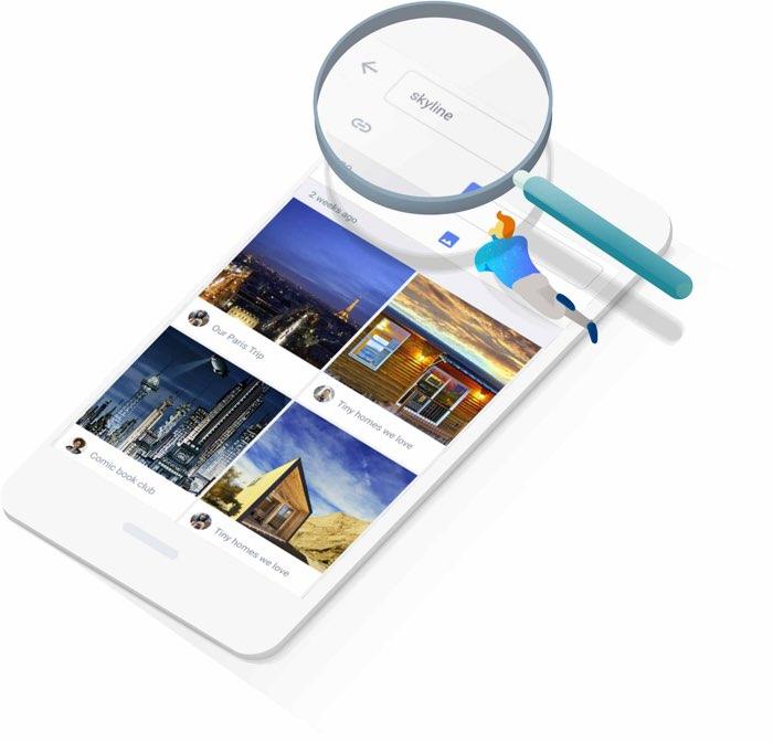 Google Spaces: zoeken in eerdere berichten
