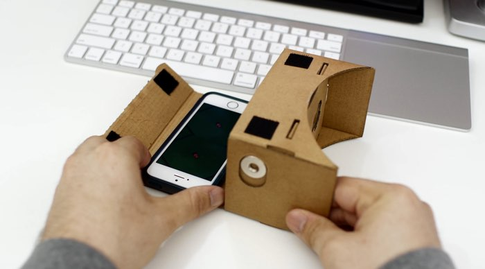 Google Cardboard met iPhone