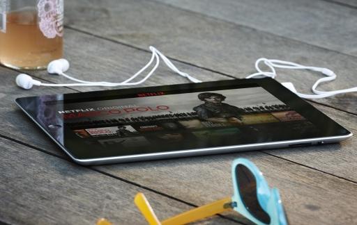 Netflix-app op iPad