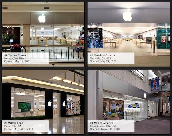 15 jaar Apple Store: de eerste 4 winkels