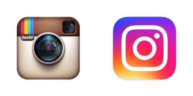 Instagram-icoon: oud vs nieuw