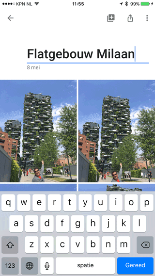 Google Foto's: album maken