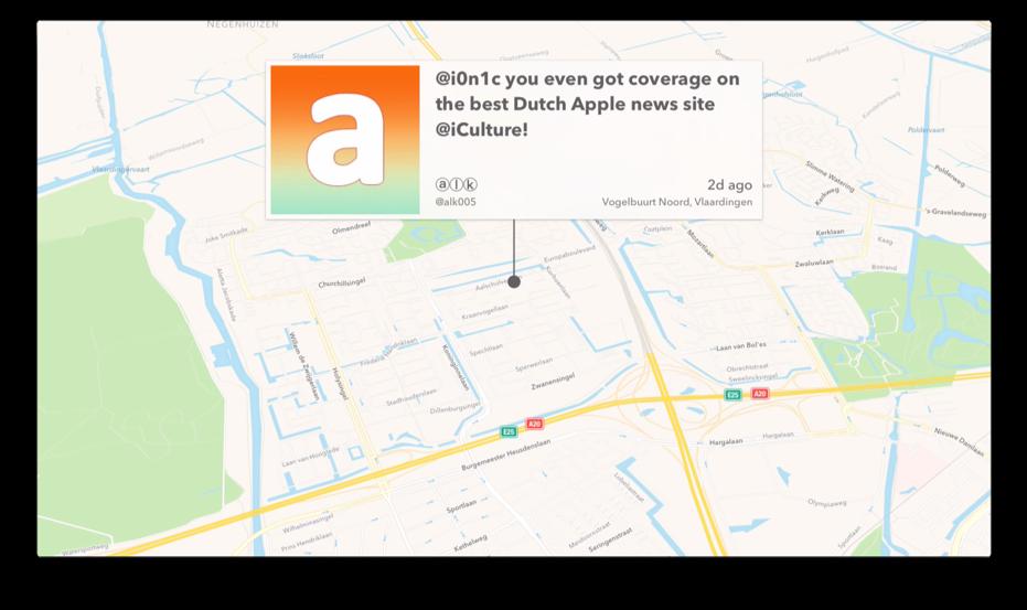Avian voor de Apple TV met een tweet.