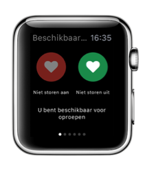 HeartsafeLiving op de Apple Watch met Niet Storen.
