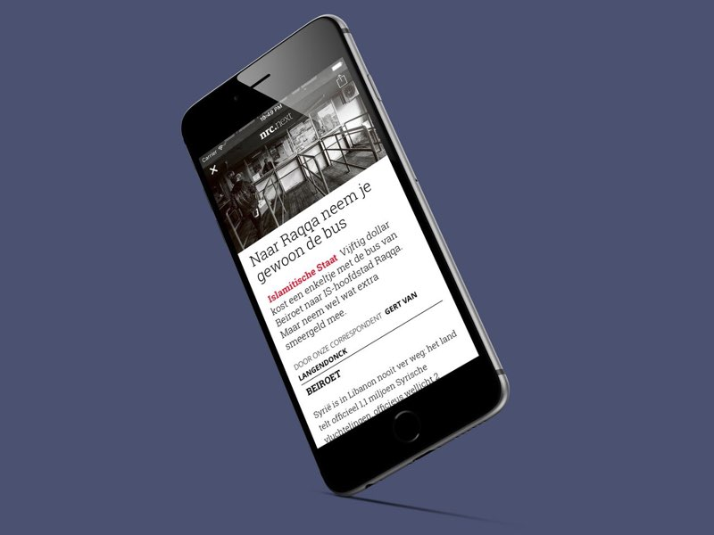 Blendle: artikel in de iPhone-app