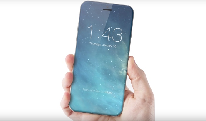 iPhone 8 concept edge-to-edge