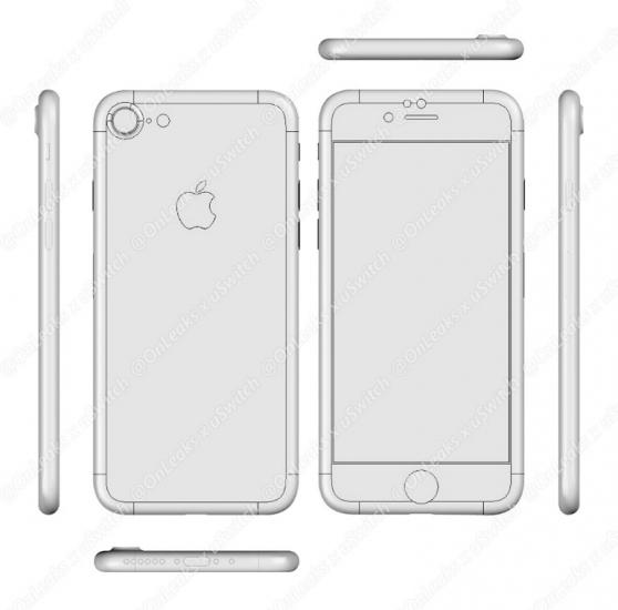 iPhone 7 tekening (schema)