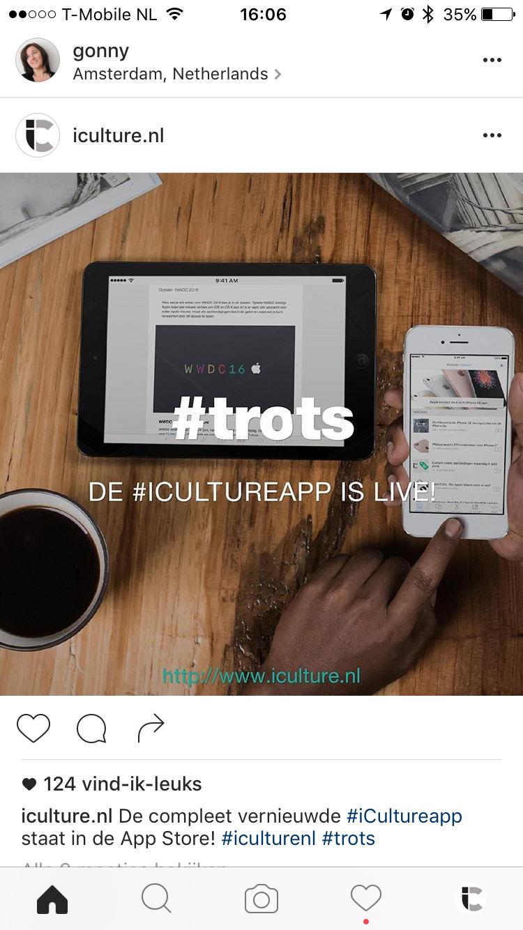 Instagram: nieuw, flat design