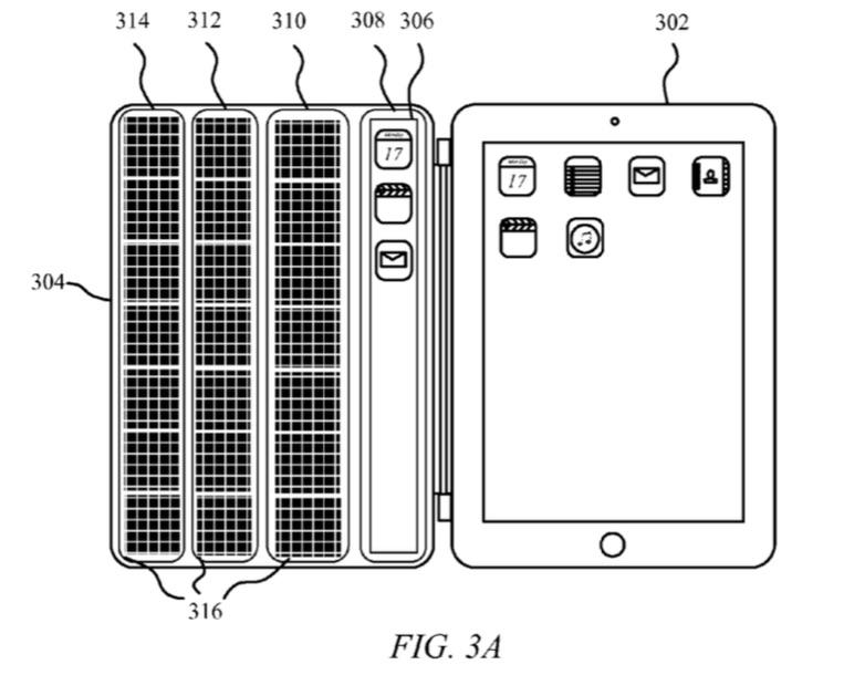 Smart Cover voor de iPad met zonnepanelen en extra scherm.