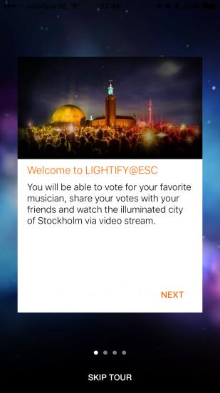 Tutorial van Lightify@ESC voor het Eurovisie Songfestival op de iPhone.