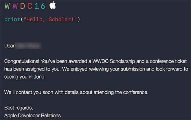 WWDC 2016: uitnodiging voor studenten