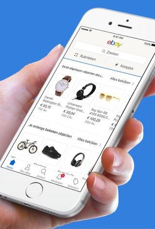 eBay-app heeft nieuw design zonder hamburgermenu