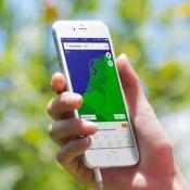 Zijmenu als sneeuw voor de zon verdwenen bij Buienradar-app