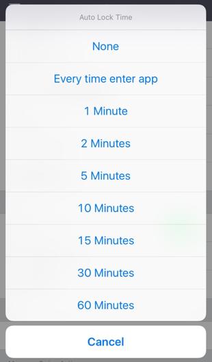ProtonMail voor de iPhone met autolock.