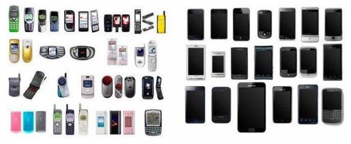 Smartphones voor en na de iPhone