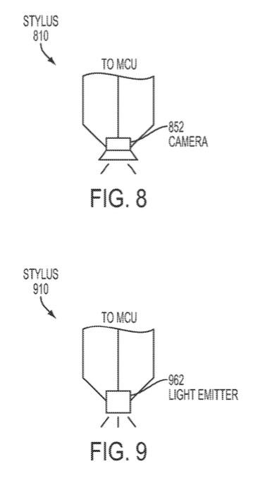 Apple Pencil-patent met verschillende punten.