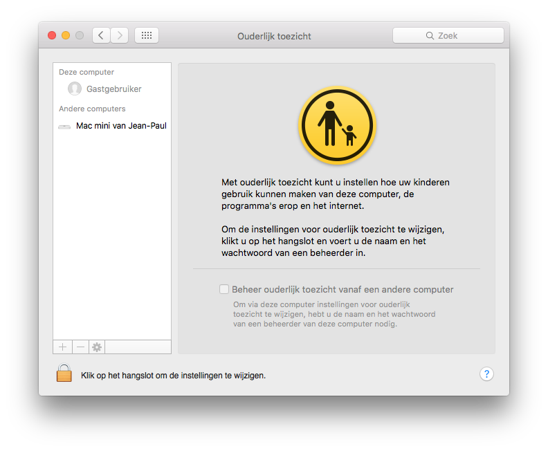 Ouderlijk toezicht op de Mac