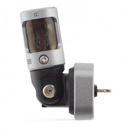 Shure MOTIV MV88-microfoon voor iPhone met Lightning-aansluiting.