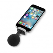 Shure MOTIV MV88 voor de iPhone met windkap.