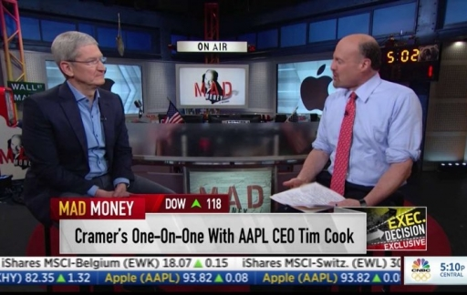 Tim Cook op CNBC Mad Money
